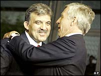 Abdullah Gul and Jack Straw