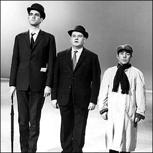 John Cleese, Ronnie Barker and Ronnie Corbett in The Frost Report