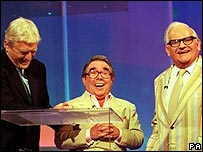 Michael Parkinson with Ronnie Corbett and Ronnie Barker in the BBC Night of 1000 Shows in 2000