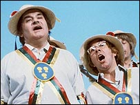 Ronnie Barker and Ronnie Corbett