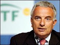 ITF president Francesco Ricci-Bitti