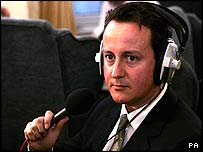 Conservative leadership contender David Cameron