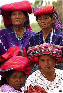 Familiares de v�ctimas de la guerra civil en Guatemala.