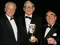 Ronnie Barker (centre) with David Jason and Ronnie Corbett