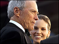 Clint Eastwood and Hilary Swank at the Oscars