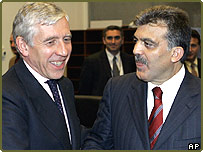 Jack Straw and Abdullah Gul