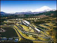 Mount Fuji towers over the renovated circuit