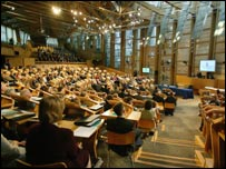 Holyrood chamber - Scottish Parliament