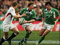 Ireland skipper Brian O'Driscoll led his side to victory over England