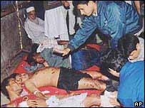 A bomb blast in Sylhet, January 2004