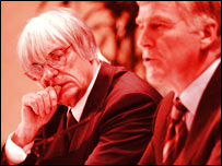 Formula One bosses Bernie Ecclestone and Max Mosley
