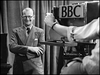 Arthur C Clarke in 1953 (BBC)