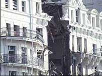 The bombing of the Grand Hotel killed five people