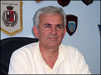 Josif Shtembari, chief of police in the port city of Vlora