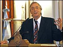 Argentine President Nestor Kirchner