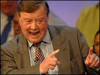 Ken Clarke during his conference speech