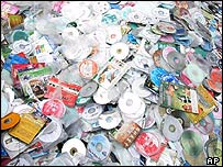 Pile of pirate CDs