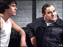 Richard Beckinsale and Ronnie Barker in Porridge
