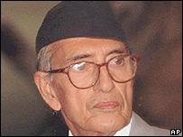 Former Nepalese Prime Minister GP Koirala
