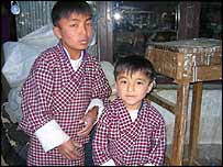 Children in Thimphu