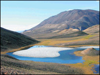 A lake in Nunavut, Canadian High Arctic, Queen's University