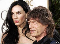 Sir Mick Jagger with girlfriend L'Wren Scott