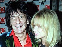 Ronnie and Jo Wood in 1999
