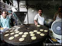 Preparing Qatayef sweets for Ramadan