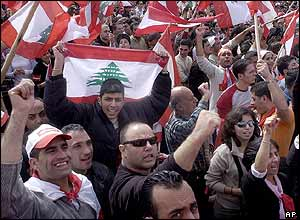 Pro-opposition protesters in Beirut