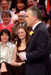 Huw Edwards, presenter of BBC Wales' People's Voice