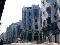 Beirut destruida por la guerra civil