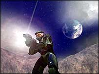 Screen grab from Halo video game