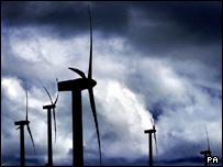Wind turbines  Image: PA