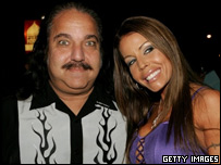 Ron Jeremy, pictured with Tabatha Stevens. Picture: Getty Images