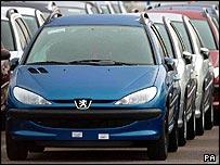 Peugeot 206 cars