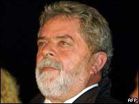 Luis Inácio Lula da Silva, presidente de Brasil.