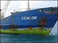 The MV Semlow, which was released this month after being held by hijackers for 100 days