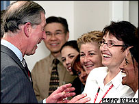 Prince Charles meets Royal Perth Hospital staff