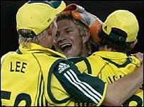 Shane Watson takes a wicket