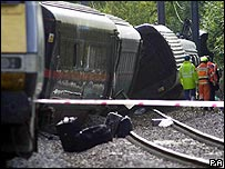 Hatfield rail crash site