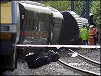 Hatfield rail crash site
