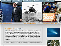 Screengrab of the Spy Media website