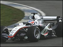 Kimi Raikkonen in the McLaren-Mercedes MP4-20