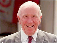 Former Manchester United manager Sir Matt Busby