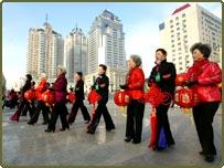 Women at a fashion show in Harbin, China