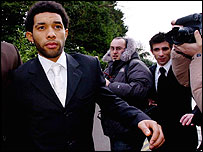 Jermaine Pennant outside court