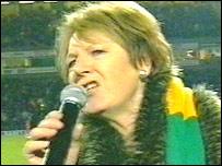 Delia Smith at the Norwich City v Man City match