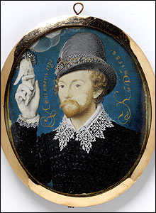 Young Man Clasping a Hand from a Cloud, Nicholas Hilliard, V&A Images/Victoria and Albert Museum