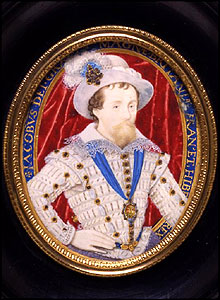 Portrait of James I, Nicholas Hilliard, V&A Images/Victoria and Albert Museum
