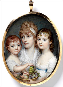 Portrait of an unknown woman and two of her children, Charles Hayter, V&A Images/Victoria and Albert Museum